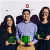 Scarlet, Gray & Green 2019 Recipients. Pictured: Dominique Hadad, Matthew Griffin and Marie McConnell