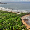 Bird's-eye view of Playa Guiones, Nosara