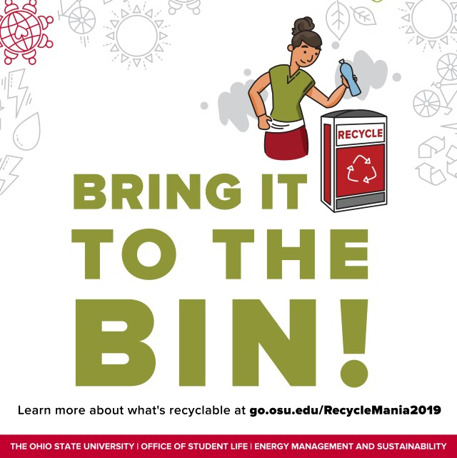 RecycleMania 2019 - Bring it to the Bin!
